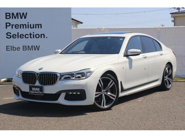 BMW 740i Mスポーツ ワンオーナー 禁煙車 ブラックレザー サンルーフ HARMAN/KARDON HUD レーザーライトハーマンカードン20AW