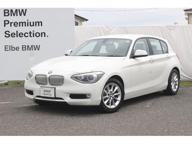 BMW 116i スタイル BカメラリアPDC白ハーフ革白パネルパーキングサポートデュアルエアコン 電子シフト