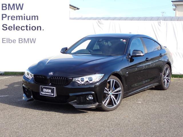 BMW 4シリーズ 420iグランクーペ Mスポーツ ACC社外地デジMブレーキ電動ゲートキセノン 社外ブラックキドニーグリルFリップトランクスポイラー地デジRフィルム
