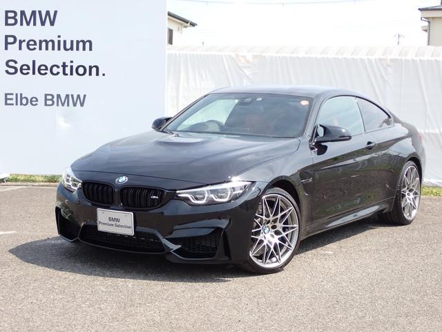 BMW M4クーペ コンペティション HUD赤革電動クルコン前後PDCRフィルム カーボンパネル シートヒータ ワンオーナー禁煙車
