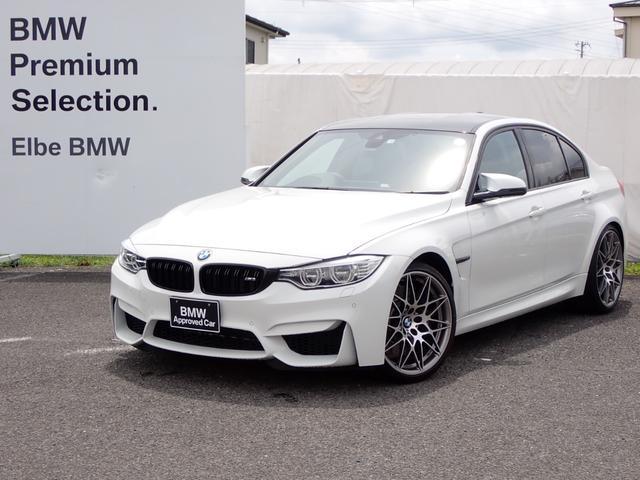 BMW M3 M3セダン コンペティション 正規ディーラー 黒革 アダプティブサス レーンチェンジw HUD 後期テールレンズHUD電動20AWFドラレコ ワンオーナー禁煙車