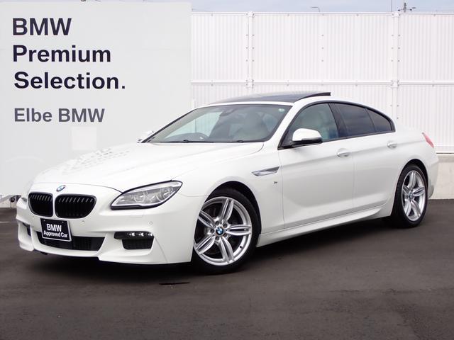 BMW 640iグランクーペ Mスポーツ ワンオーナー 禁煙車 パノラマ HUD ベージュ革 ACC ウッドP シートヒータ LEDヘッドライト ブラックキドニーグリル リアフィルム