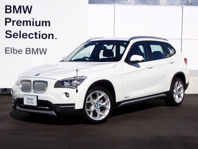 BMW X1 sDrive 18i ワンオーナー 禁煙車 コンフォートA 社外地デジ ナビドラレコ キセノン ハーフレザー ブラウンパネル ルーフレール ランフラットタイヤ 7V型ワイドVGA地上デジタルTVナビ