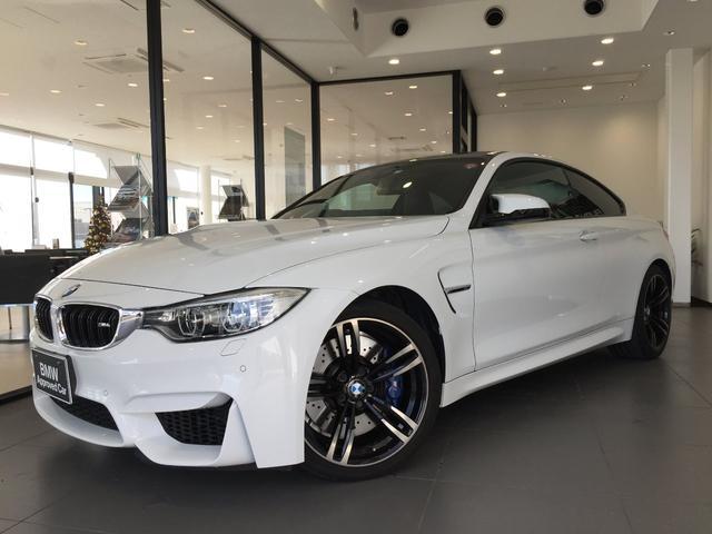 BMW M4クーペ ブラックレザー 19AW アダプティブMサスペンション LEDヘッドライト バックモニター 電動シート スマートキー