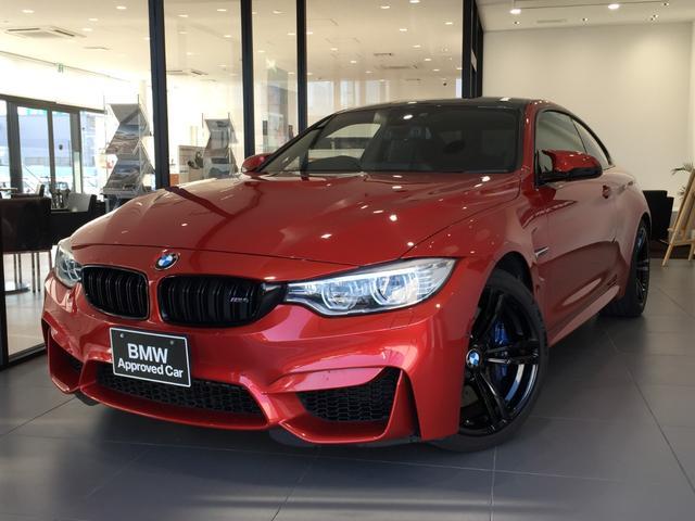BMW M4クーペ Mスポーツシート ブラックレザーシート 電動シート MDrive 地デジ パドルシフト 19インチブラックAW カーボンルーフ シルキーシックス レーンチェンジウォーニング Bカメラ