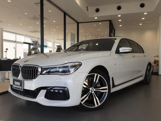 BMW 740i Mスポーツ 20インチアルミホイール サンルーフ 茶レザー 電動シート レーザーライト ベンチレーションシート 前後席シートヒーター ヘッドアップディスプレイ TVチューナー ACC マッサージシート