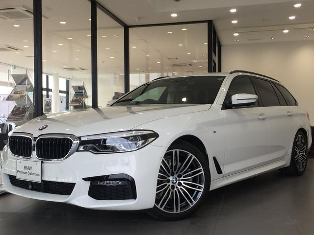 BMW 523dツーリング Mスポーツ ブラックレザーシート 4席シートヒーター ヘッドアップディスプレイ アクティブクルーズコントロール アンビエントライト 19AW 前後障害物センサー 全周囲カメラ アダプティブLEDヘッドライト