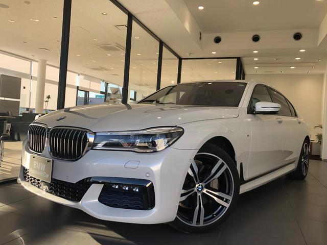 BMW 740Li Mスポーツ ブラックレザー レーザーライト ワンオーナー 20アルミホイール アクティブクルーズコントロール サンルーフ ヘッドアップディスプレイ  全周囲カメラ 前後シートヒーター リアエンターテインメント