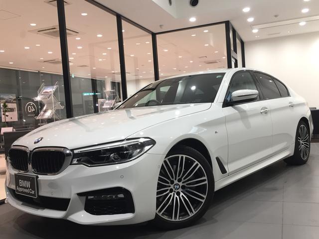 BMW 5シリーズ 523i Mスポーツ イノベーションパッケージ ユーザー買取車 ディスプレイキー アルカンターラクロスシート 純正19インチアルミホイール 衝突被害軽減ブレーキ 純正HDDナビ 全周囲カメラ アダプティブLED 認定保証