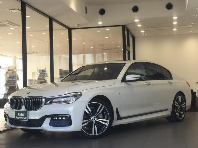 BMW 740i Mスポーツ サンルーフ イージークローズ シートヒーター ベンチレーション 純正20インチアルミホイール アクティブクルーズコントロール ヘッドアップディスプレイ ハーマン 電動リアゲート 地デジ純正HDDナビ