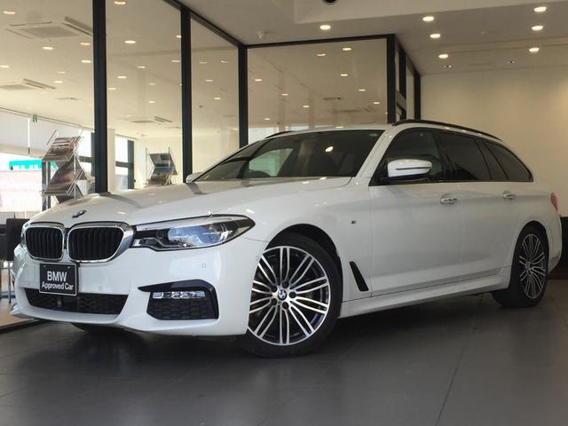 BMW 523dツーリング Mスポーツ ハイラインパッケージ ブラックレザーシート パノラマガラスサンルーフ アクティブクルーズコントロール 禁煙車 認定保証 アダプティブLEDヘッド 純正19インチアルミ 地デジ シートヒーター