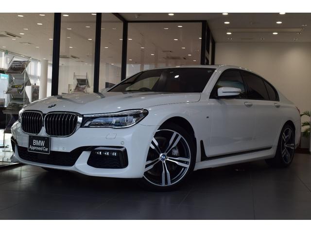 BMW 740i Mスポーツ ワンオーナー ガラスサンルーフ レーザーライト 全周囲カメラ ヘッドアップディスプレイ コニャックレザーシート 純正20インチアルミ シートヒーター ベンチレーションシート マッサージシート 認定保証