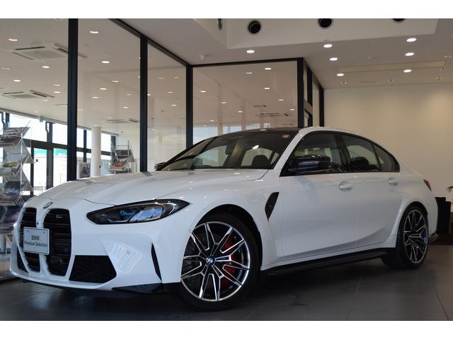BMW M3セダン コンペティション ブラックレザーシート ベンチレーションシート ヘッドアップディスプレイ パーキングアシストプラス レーザーライト 衝突被害軽減ブレーキ 19,20インチアルミホイール ワンオーナー 認定保証