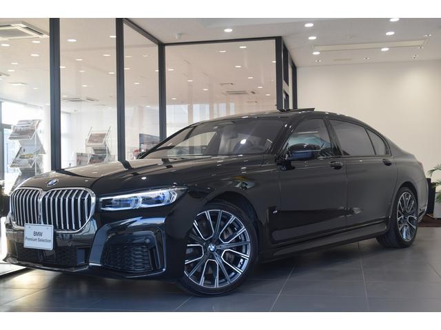 BMW 750Li xDrive Mスポーツ 左ハンドル エグゼクティブラウンジ4人乗り リヤコンフォートPKG 黒革 サンルーフ 20AW ACC ドライビングアシスト レーザーライト シートヒーター ベンチレーションシート 全周囲カメラ