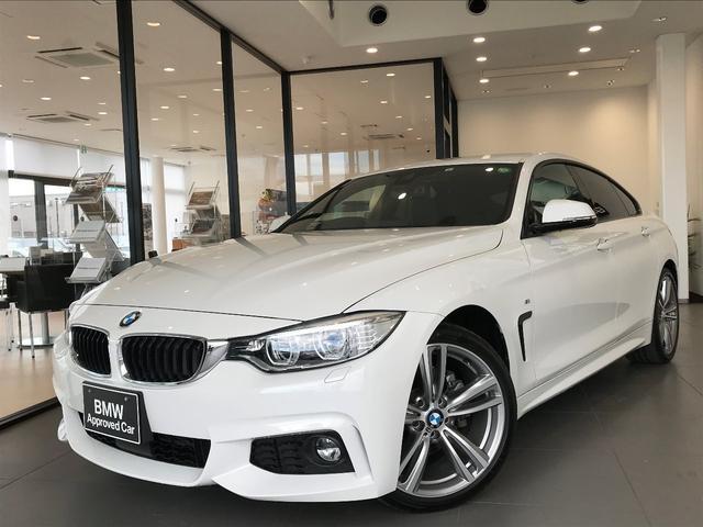 BMW 4シリーズ 420iグランクーペ Mスポーツ ブラックレザーシート アダプティブLEDヘッドライト フロントシートヒーター ワンオーナー 純正HDDナビゲーション 衝突被害軽減ブレーキ 19インチアルミホイール アクティブクルーズコントロール