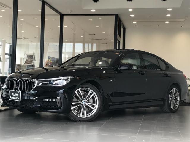 BMW 7シリーズ 740i Mスポーツ アイボリーホワイトレザーシート BMWレーザーライト ナイトビジョン 全周囲カメラ ガラスサンルーフ ディスプレイキー HDDナビゲーション アクティブクルーズコントロール 地デジチューナー 認定保証