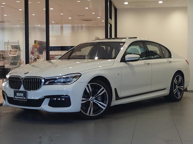 BMW 740i Mスポーツ リモートパーキング ベンチレーションシート モカナッパレザー フルセグTV ステアリングサポート 電動リアゲート ハーマンカードンスピーカー 電動サンルーフ アクティブクルーズコントロール