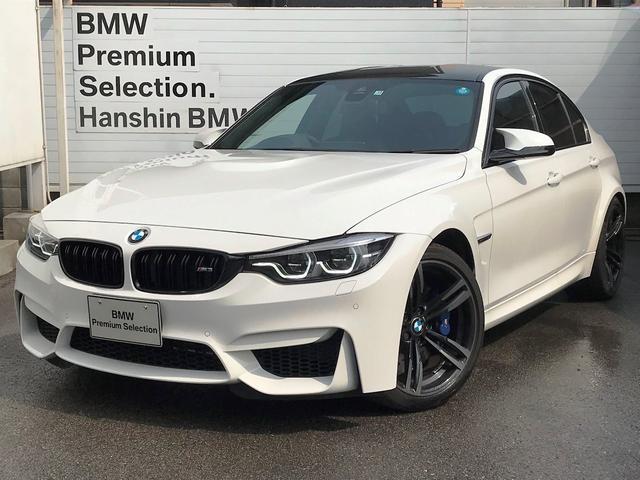 BMW M3認定中古車後期LCI19AW1オーナー黒レザーHDDナビ