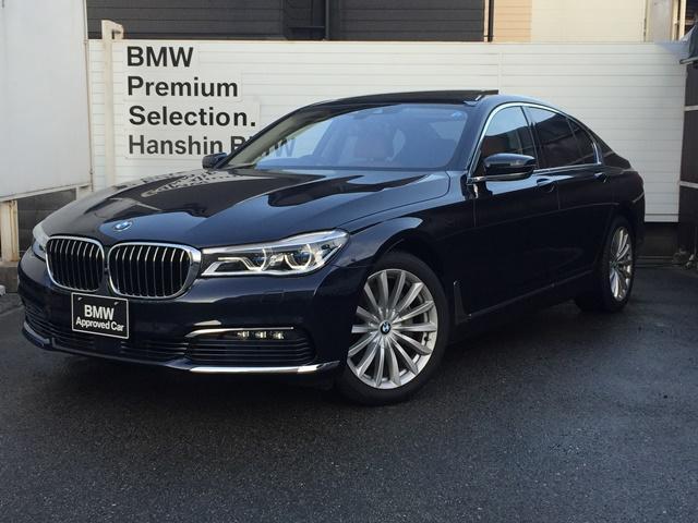 BMW 740i認定保証サンルーフワンオーナ茶革プラスPKGレーザー