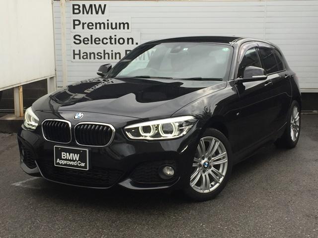 BMW 1シリーズ 118iMスポーツ認定保証1オナLEDライトPサポHDDナビ