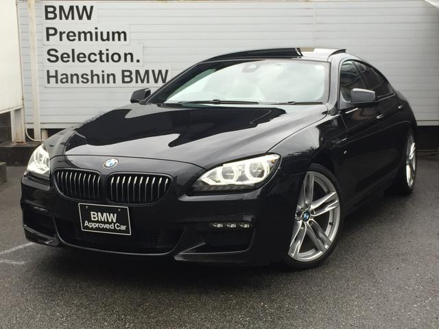 BMW 6シリーズ 640iグランクーペ Mスポーツ ・ワンオーナー・サンルーフ・白レザーシート・インテリジェントセーフティー・純正HDDナビ・バックカメラ・地デジTV・ミュージックサーバ・シートヒーター・パドルシフト・バックカメラ・F06