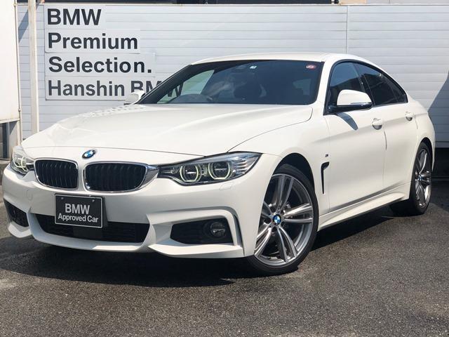 BMW 420iグランクーペ Mスポーツ ・ワンオーナ・LEDヘッドライト・オプション19AW・純正HDDナビ・バックカメラ・ミュージックサーバ・DVD再生・電動シート・シートヒーター・電動トランク・ミラーETC・衝突軽減ブレーキ・F36