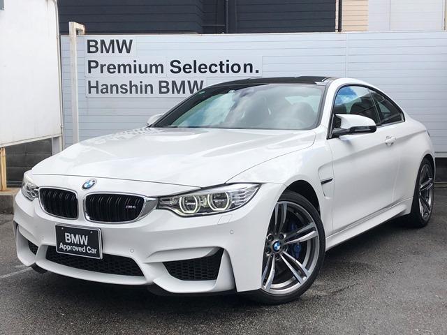 BMW M4クーペ 認定保証・1オーナー・黒レザー・Mサスペンション・レーンチェンジウォーニング・純正HDDナビ・地デジTV・ヘッドアップディスプレイ・LEDヘッドライト