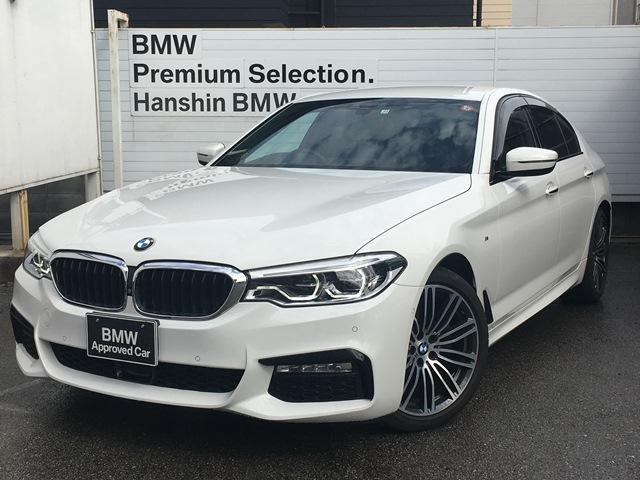 BMW 523d Mスポーツ ハイラインパッケージ ・全国認定保証・ワンオーナー・黒革・シートヒーター・アクティブクルーズコントロール・レーンチェンジウォーニング・衝突回避軽減ブレーキ・電動リアゲート・純正ナビ・地デジ・ステアリングアシスト・G30