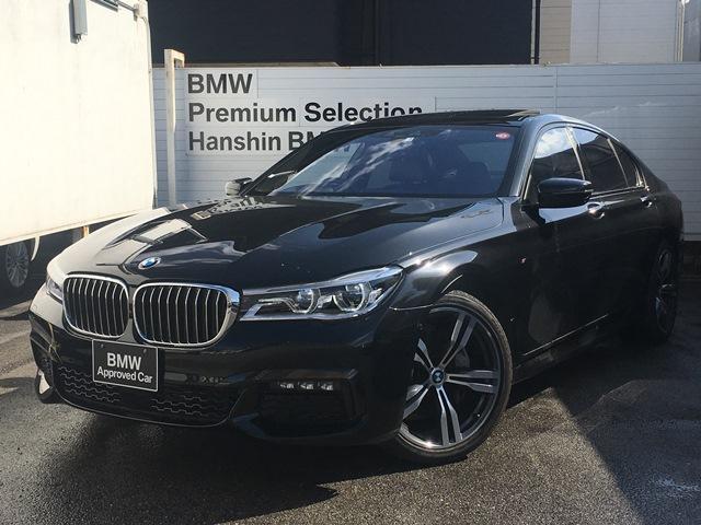 BMW 740d xDrive Mスポーツ 認定保証・1オーナー・ベンチレーションシート・ヘッドアップディスプレイ・ソフトクローズドア・ヘッドアップディスプレイ・アラウンドビューカメラ・ハーマンカードン・レーザーライト・ACC・サンルーフG11