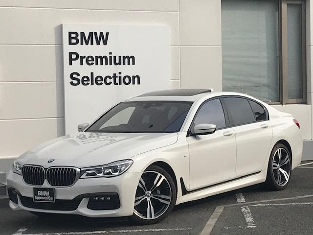 BMW 740i Mスポーツ 認定保証・レーザーライト・サンルーフ・モカレザーシート・シートヒーター・電動シート・純正HDDナビ・バックカメラ・PDC・地デジ・電動リアゲート・Dアシスト・HUD・ACC・ハーマンカードン・G11