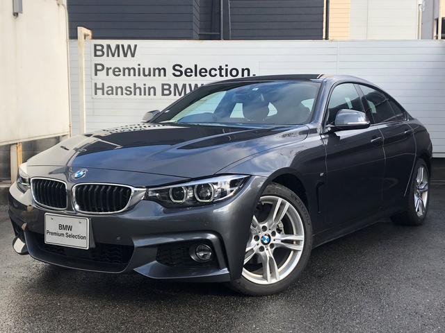 BMW 420iグランクーペ Mスピリット 認定保証・ACC・LEDヘッドライト・衝突軽減ブレーキ・車線逸脱警告・レーンチェンジウォーニング・電動テールゲート・純正HDDナビ・地デジ・バックカメラ・フロント・リアPDC・パドルシフト・F36