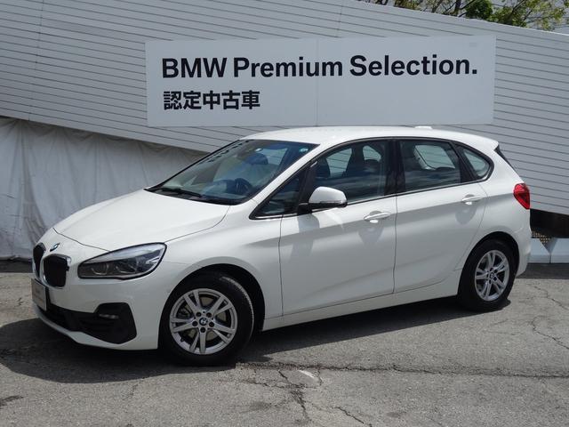 BMW 218dアクティブツアラー 認定保証・弊社デモカー・パーキングサポート・バックカメラ・前後PDC・Bluetooth・LEDヘッドライト・純正ナビ・DVD再生・Bluetooth・オートライト・オートワイパー・ミラーETCF45