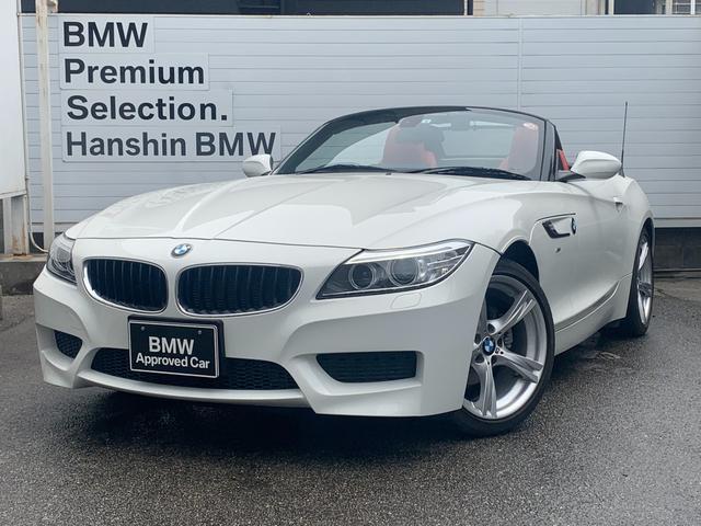 BMW Z4 sDrive20i Mスポーツ 認定保証・1オナ・赤レザー・シートヒーター・電動シート・リトラクタブルハードトップ・キセノンヘッドライト・オートライト・オートワイパー・純正ナビ・Bluetooth・パドルシフト・ミラーETC・E89