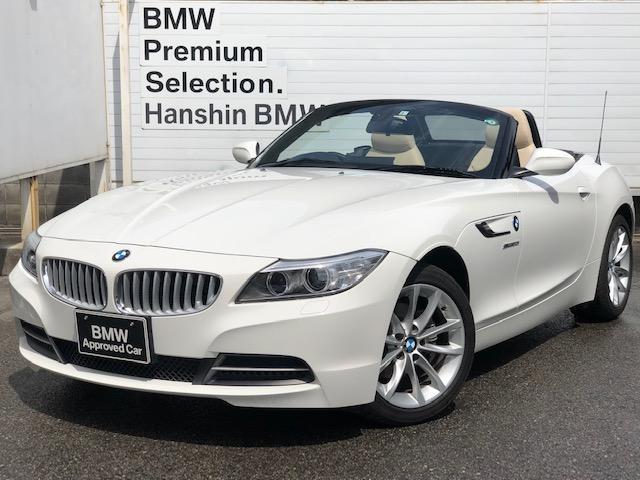 BMW Z4 sDrive20i ハイライン 認定保証 キャンベラベージュレザー シートヒーター リトラクタブルハードトップ HDDナビ CD Bluetooth機器 パドルシフト AUXUSB 純正ミラーETC キセノンヘッドライト 17AW