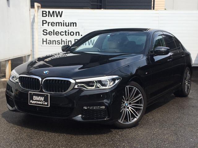 BMW 523d Mスポーツ 1オーナー イノベーションPKG ディスプレイキー ジェスチャーコントロール ヘッドUPディスプレイ アイボリーレザーシート シートヒーター 電動トランク HDDナビ 地デジ ACC LED 19AW