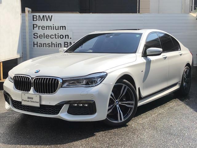 BMW 740i Mスポーツ 認定保証・サンルーフ・レーザーライト・モカレザー・シートヒーター・純正AW・ACC・Dアシスト・HUD・電動シート・電動リアゲート・ウッドトリム・ハーマンカードン・HDDナビ・地デジ・360度カメラ