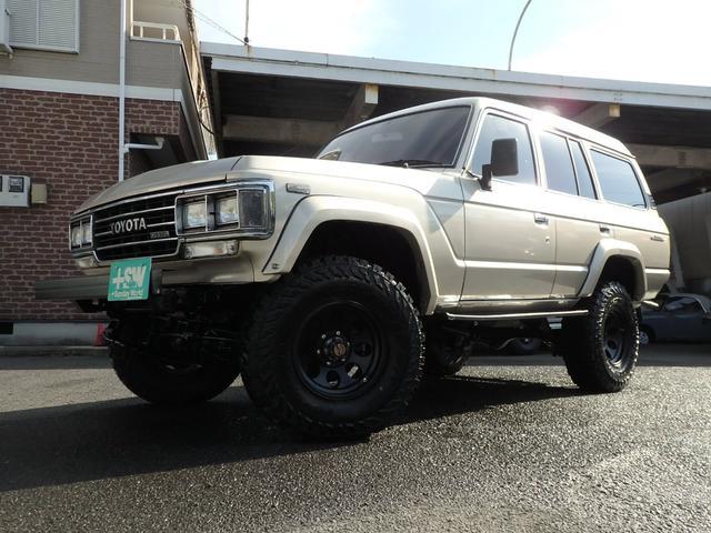 トヨタ GX 5速MT 構変済みリフトアップ 新品タイヤ・ホイール