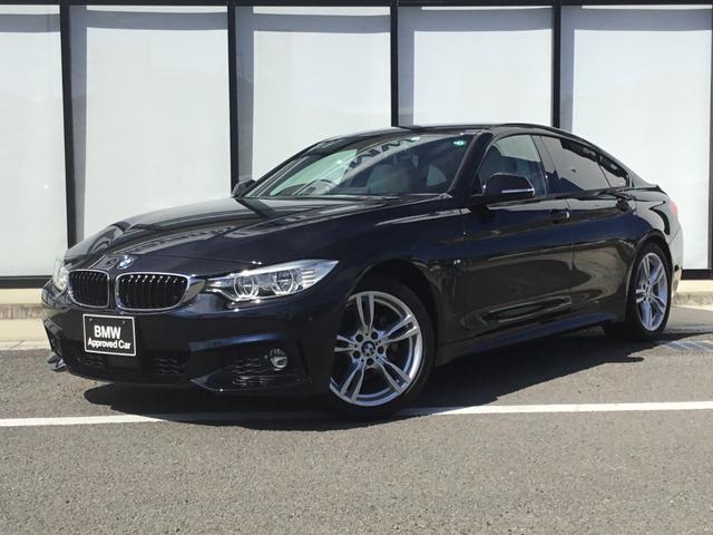 BMW 4シリーズ 420iグランクーペ Mスポーツ Mスポーツパッケージ 白レザー シートヒーター パワーシート アクティブクルーズコントロール 衝突軽減ブレーキ 18インチMアルミホイル LEDヘッドライト パワートランク リアガラスフィルム施工済
