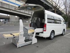 ハイエースバン福祉車両ウェルキャブBタイプ車イス2台固定ストレッチャー本体