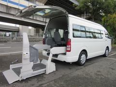ハイエースコミューターワイド福祉車両ウェルキャブDタイプ車イス4台固定 10人乗