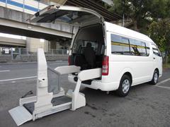 ハイエースバン福祉車両ウェルキャブBタイプ車イス2台固定 電動Sステップ