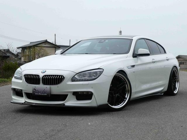 BMW 6シリーズ 640iグランクーペ Mスポーツ ブラウンレザー サンルーフ インテリジェントセーフティ 純正HDDナビ TV LEDヘッドライト ソフトクローズドア 純正19AW