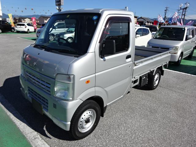 スズキ KCエアコン・パワステ 4WD オートマ エアコン パワステ ノーマルタイヤ4本新品装着