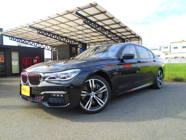 BMW 750Li Mスポーツ パノラマサンルーフ リアエンター リアコンフォートプラスPKG レーザーライト ブラックレザーシート 全席ベンチレーション&ヒーター ハーマンカードン ナビ DTV ETC 360カメラ 前後ドラレコ