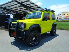 ジムニーXL 4WD セーフティサポート 社外AW グッドリッジ リフトアップ 社外ショック コイル ラテラルロッド リアラダー オーバーフェンダー グリルガード 8インチナビ DTV ETC