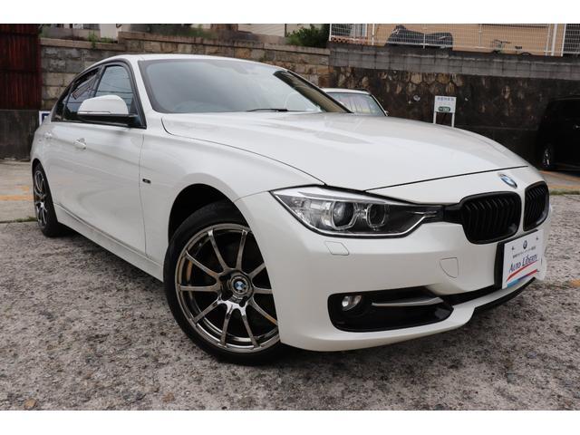 BMW 320i スポーツ BMW認定店 2年長期無料保証付 黒革シート シートヒーター 社外エアロ 社外18インチアルミ