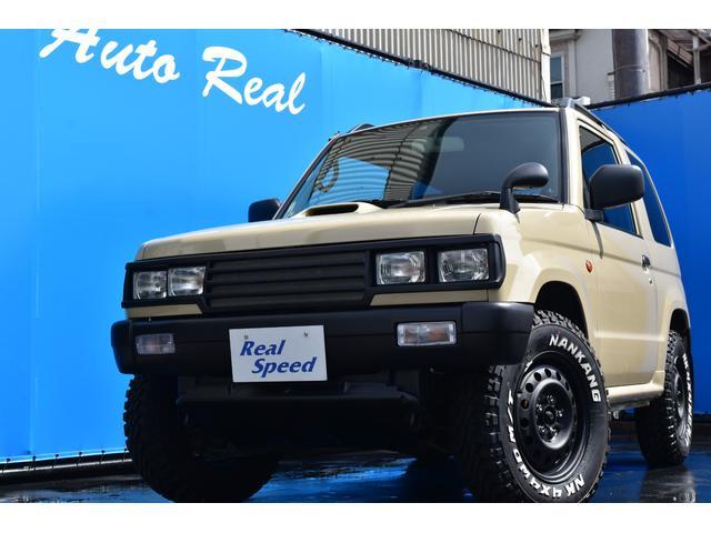三菱 パジェロミニ VR REALSPEEDエアロカスタム ベージュ色全塗装済み 角目4灯ヘッドライト ショートバンパー ルーフレール 新品MTタイヤ CDプレーヤー USB ETC付 4WD