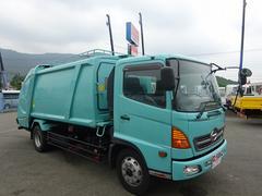 ヒノレンジャー増トン車 プレス式パッカー 10.2m3 4.1トン積み