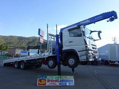 スーパーグレートセルフクレーン 5段 重機運搬車 ウインチ付 11トン積み