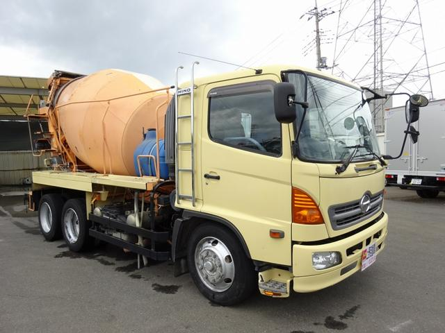 日野 ミキサー車 生コン 増トン ドラム容量8.9m3 11t積み